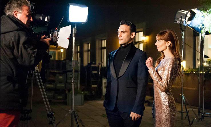 Sur le tournage d'un spot publicitaire avec Carles Mestres